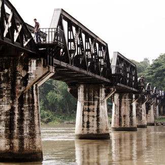 Thai Burma Railway -  building begins